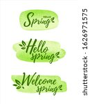 hello  welcome spring... | Shutterstock .eps vector #1626971575