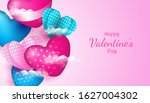 valentines day background with...   Shutterstock .eps vector #1627004302