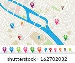 city map | Shutterstock .eps vector #162702032