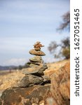 Closeup Of Trail Cairn To Mark...