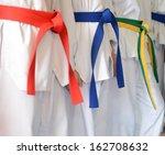 people in martial arts training ...   Shutterstock . vector #162708632