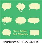 voice bubble flat design vector ...   Shutterstock .eps vector #1627089445