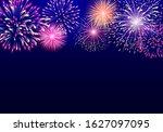 colorful vector firework on... | Shutterstock .eps vector #1627097095