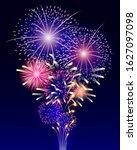 colorful vector firework on... | Shutterstock .eps vector #1627097098