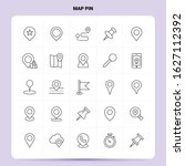 outline 25 map pin icon set.... | Shutterstock .eps vector #1627112392