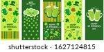 set of happy st. patrick's day... | Shutterstock . vector #1627124815