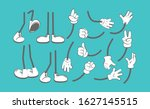 body parts cartoon. hands and... | Shutterstock .eps vector #1627145515