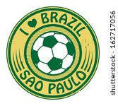 grunge stamp with words brazil  ... | Shutterstock .eps vector #162717056