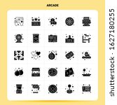 solid 25 arcade icon set....