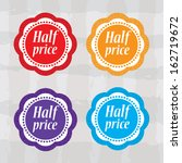 half price stickers with... | Shutterstock .eps vector #162719672