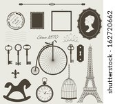 Vintage Objects Silhouettes...