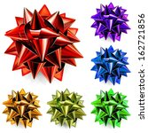 set of realistic bows made of... | Shutterstock .eps vector #162721856
