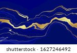 blue marble and gold abstract... | Shutterstock .eps vector #1627246492