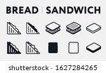 Isometric Bread Toast Breakfast....