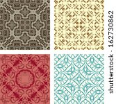 Retro different vector seamless patterns  - stock vector