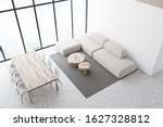 Top View Of Dining Room With...