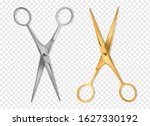 realistic scissors. silver and...   Shutterstock .eps vector #1627330192