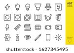 Electricity Icons Set. Set Of...