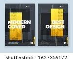 yellow brochure design. a4... | Shutterstock .eps vector #1627356172
