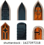 Doors Set  Wooden And Metal...
