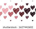 light pink  red vector pattern... | Shutterstock .eps vector #1627442602