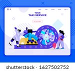 taxi service landing page...