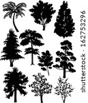 illustration with trees set... | Shutterstock .eps vector #162753296