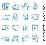 set of laundry icons with...   Shutterstock .eps vector #1627542658