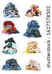 heaps of different clothes and... | Shutterstock . vector #1627578502