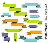 a set of ribbons. colored...   Shutterstock .eps vector #1627595665