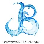 clean blue water splash shaped... | Shutterstock . vector #1627637338