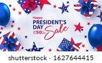 happy presidents day sale... | Shutterstock .eps vector #1627644415