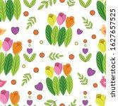 vector seamless spring pattern...   Shutterstock .eps vector #1627657525