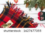 christmas tree branches and...   Shutterstock . vector #1627677355