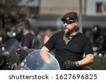 24 04 2019 riga  latvia. biker...