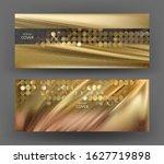 elegant gold invitation cards... | Shutterstock .eps vector #1627719898