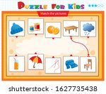 matching game  education game... | Shutterstock .eps vector #1627735438