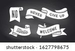 ribbon banner. set of black and ... | Shutterstock .eps vector #1627798675