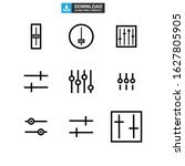 slide control icon or logo...