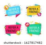 refer friend loudspeaker badge... | Shutterstock .eps vector #1627817482