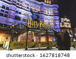Small photo of London, UK - January 27, 2020: Palace Theater in London's West End, with the musical Harry Potter and the Cursed Child as the current production