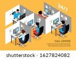 call center interior isometric...   Shutterstock .eps vector #1627824082