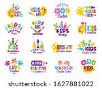 creative kids logo. craft and... | Shutterstock .eps vector #1627881022