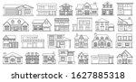 villa of house vector outline... | Shutterstock .eps vector #1627885318