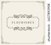 vintage certificate. ornamental ...   Shutterstock .eps vector #1627892908
