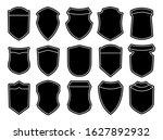 set of blank empty dark shields.... | Shutterstock .eps vector #1627892932