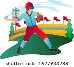 illustration of baseball player ...