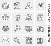business icon set. 16 universal ... | Shutterstock .eps vector #1627939138