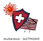 cartoon character   usa flag... | Shutterstock .eps vector #1627942045