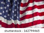 closeup of american flag | Shutterstock . vector #162794465